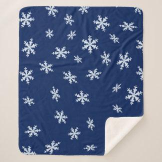 Cobertor Sherpa Flocos de neve