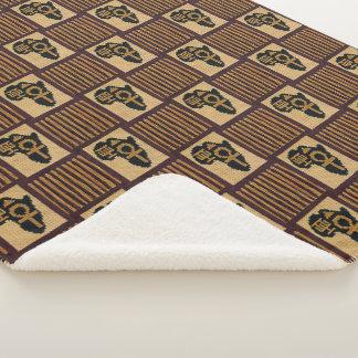 Cobertor Sherpa Impressão original do Crochet das franjas