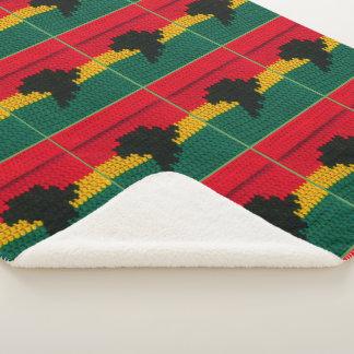 Cobertor Sherpa Impressão vermelho do Crochet do mapa de África do