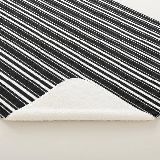 Cobertor Sherpa O branco preto listra a cobertura de Sherpa