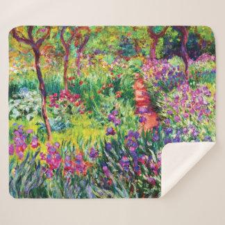 Cobertor Sherpa O jardim da íris em Giverny por Claude Monet
