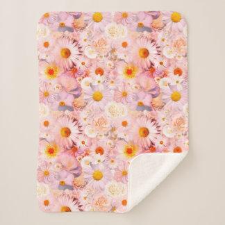 Cobertor Sherpa O rosa floresce o primavera nupcial do casamento