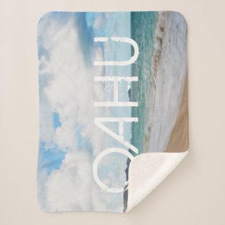Cobertor Sherpa Ondas & praia de oceano de Oahu Havaí