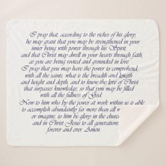 Cobertor Sherpa Palavra da escritura da cobertura de Ephesians 3