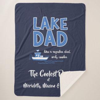 Cobertor Sherpa Presente legal do costume do pai do lago
