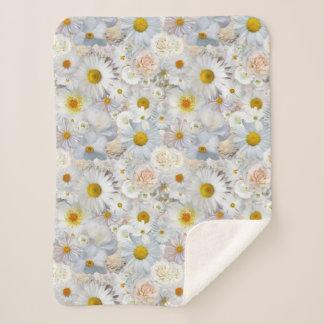 Cobertor Sherpa Primavera nupcial do casamento floral do buquê das