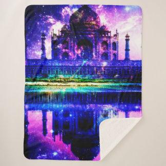 Cobertor Sherpa Sonhos iridescentes de Taj Mahal