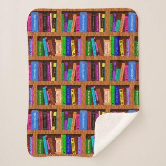 Cobertor Sherpa Teste padrão bonito da estante da biblioteca dos