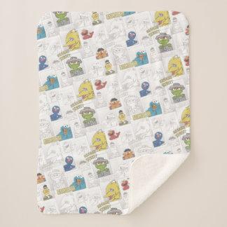 Cobertor Sherpa Teste padrão cómico de StreetVintage do sésamo