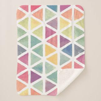 Cobertor Sherpa Teste padrão Pastel do triângulo da aguarela
