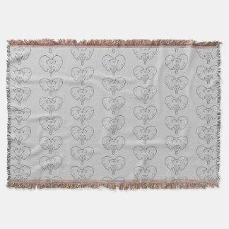 Cobertor Silhueta da cara do elefante