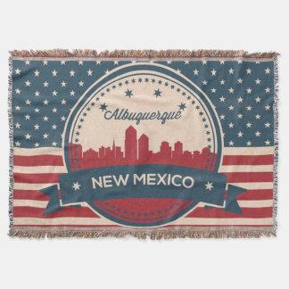 Cobertor Skyline retro de Alberquerque New mexico