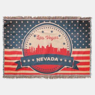 Cobertor Skyline retro de Las Vegas Nevada