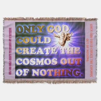Cobertor Somente o deus poderia criar o cosmos fora de nada
