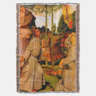 Cobertor St Francis de Assisi recebe os Stigmata de Jesus