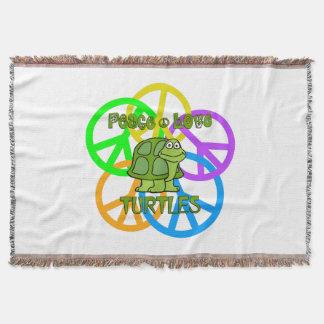 Cobertor Tartarugas do amor da paz