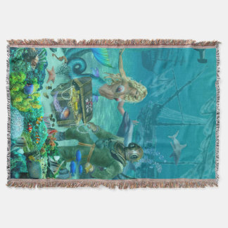 Cobertor Tesouro do recife de corais da sereia
