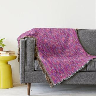 Cobertor Teste padrão abstrato do roxo e do rosa