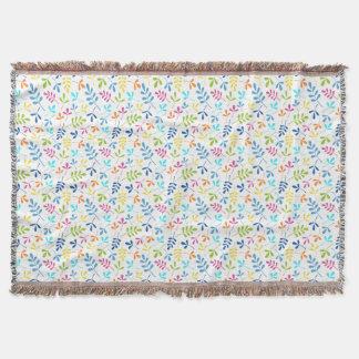 Cobertor Teste padrão Assorted colorido de Sml das folhas