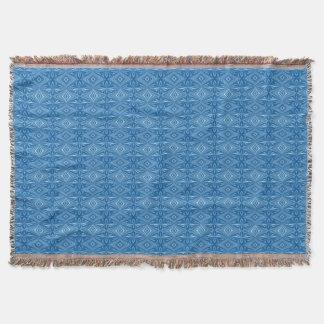 Cobertor Teste padrão azul à moda original