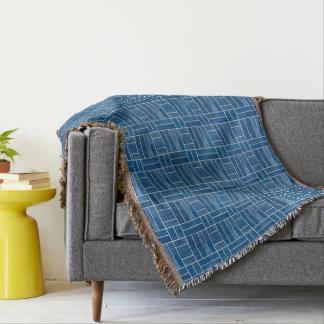 Cobertor Teste padrão azul do olhar dos azulejos