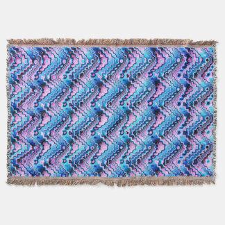 Cobertor Teste padrão azul e roxo abstrato