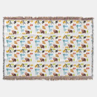 Cobertor Teste padrão bonito dos miúdos dos animais