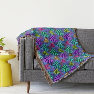 Cobertor Teste padrão brilhante e colorido 767 da folha