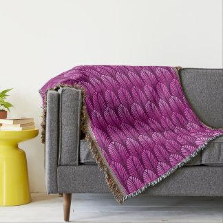 Cobertor Teste padrão da pena do art deco, roxo Amethyst