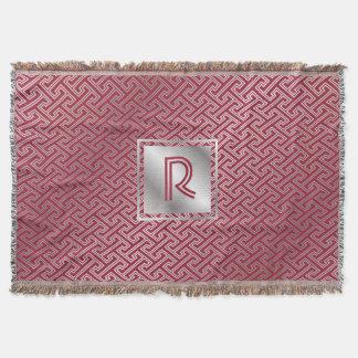 Cobertor Teste padrão de bloqueio de prata vermelho do