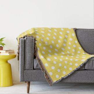 Cobertor Teste padrão de bolinhas amarelo