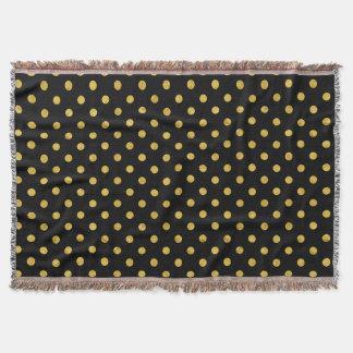 Cobertor Teste padrão de bolinhas elegante da folha do