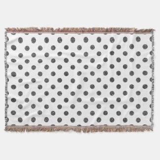 Cobertor Teste padrão de bolinhas elegante do brilho do