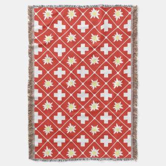 Cobertor Teste padrão de Edelweiss da suiça