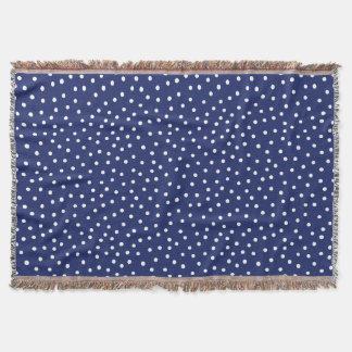 Cobertor Teste padrão de pontos dos confetes dos azuis