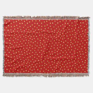 Cobertor Teste padrão de pontos elegante dos confetes da