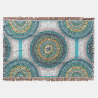 Cobertor Teste padrão floral étnico abstrato colorido da