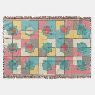 Cobertor Teste padrão geométrico colorido