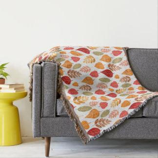 Cobertor Teste padrão pintado das folhas de outono