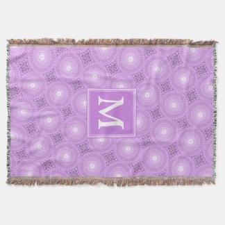 Cobertor Teste padrão roxo dos círculos do lilac do