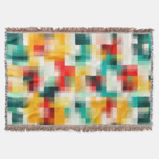 Cobertor Teste padrão vermelho do abstrato do branco do