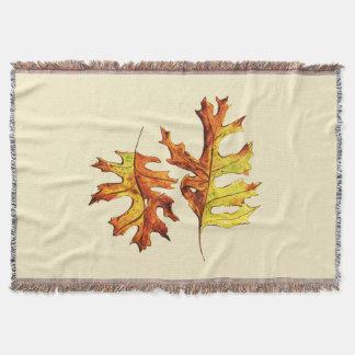 Cobertor Tinta e folhas de outono de dança pintadas