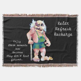 Cobertor Troll de vista engraçado escandinavo do ogre