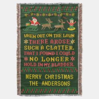 Cobertor Twas engraçado a noite antes do Natal