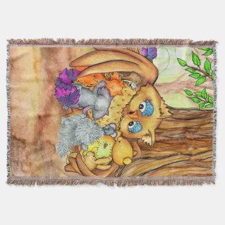 Cobertor Um lance da tapeçaria da lição da floresta