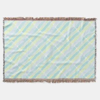 Cobertor Verde azul Azur da aguarela