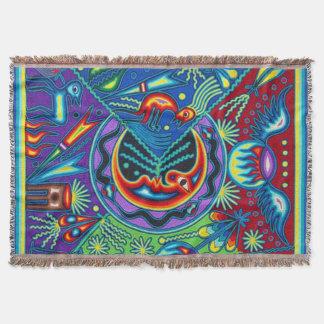 Cobertor Viagem tribal maia mexicano de Boho da arte de
