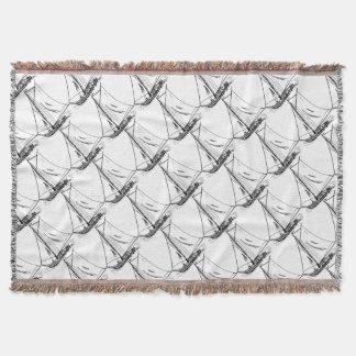 Cobertor Vintage do desenho do veleiro