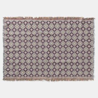 Cobertor Violet Kaleidoscope Pattern