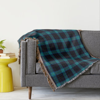 Cobertor Xadrez de Tartan azul de Gree da cerceta preta de
